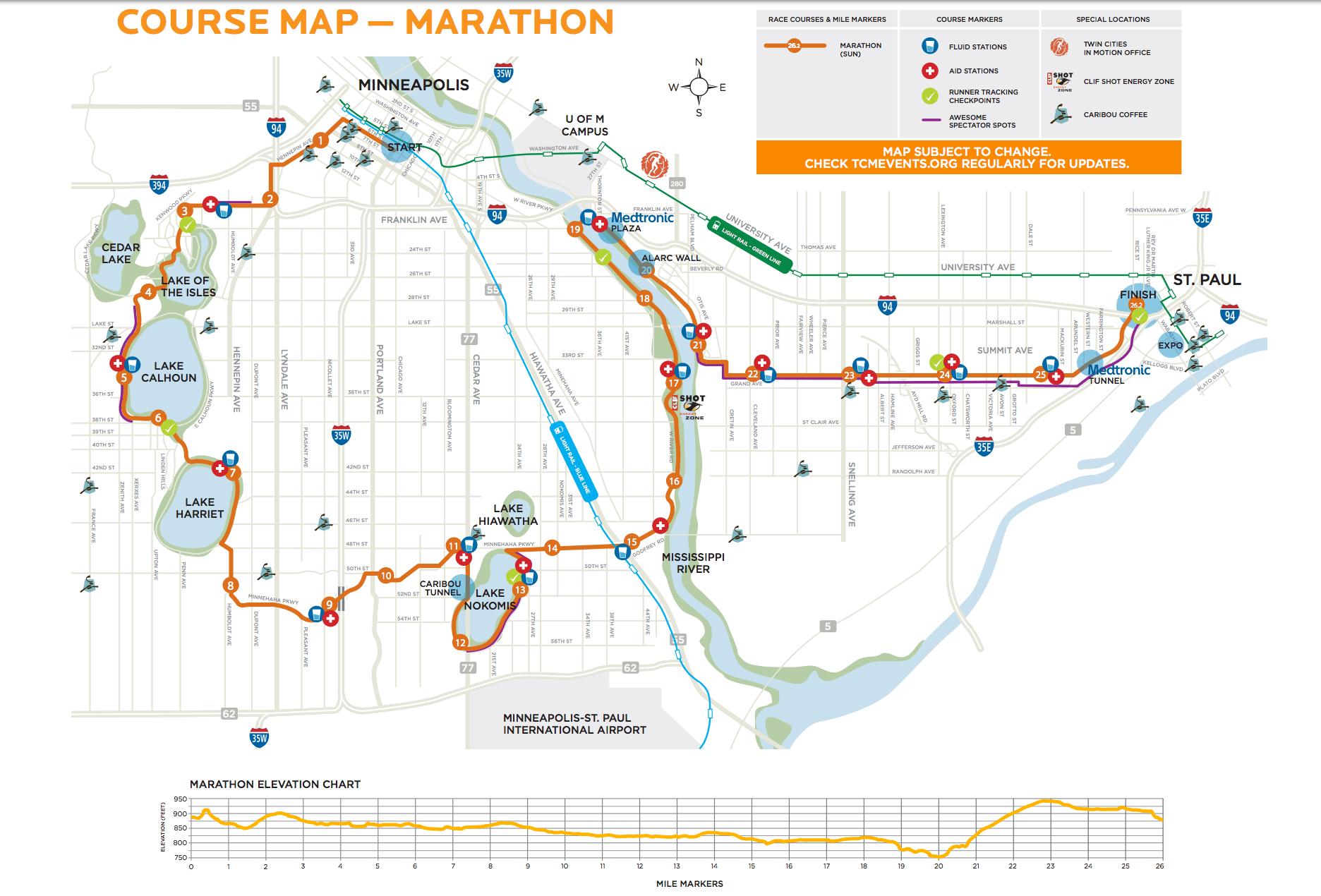 Akron Marathon Map