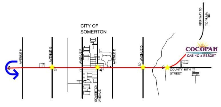 Yuma Half Marathon Map
